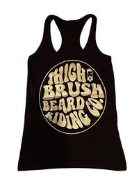 THIGHBRUSH® BEARD RIDING COMPANY - Women's Logo Tank Top - Black with Gold