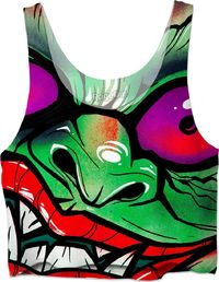 ROWC Green Graffiti Gremlin Crop Top $37.00
