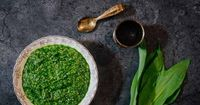 This charred ramp pesto recipe is easy to make in a food processor. It takes five minutes to blend and will last for months in the freezer.
