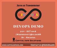 Join us Tomorrow! #AmazonWebservices (AWS) DEMO  on 31st OCT 2018@ 9:00 AM Location @ #capitalinfosolution @https://bit.ly/2NnzP80  #AWS #awstraining #onlinetraining #development #technology #training #realtimeprojects #webservices