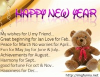 Happy new year quote with image