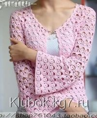 Pink sweater with diagrams