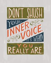 Tell me about the differences between your inner voice and the words that you speak aloud to people.