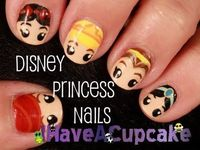 Disney Princess Nail Art- adorable!