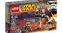 Star Wars LEGO Star Wars 75089 Geonosis Troopers Provide mobile firepower with the Geonosis Troopers battle pack with walker, rapid shooter, 4 minifigures and stud blasters.Suitable for builders ages 6 to 12 y (Barcode EAN = 5054242262660) http://...