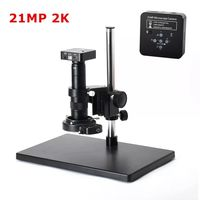 HAYEAR 21MP 1080P 60FPS 2K HDMI Electron Microscope Set USB Digital Industry Video Microscope Camera Set System 180X 300X C MOUNT Lens For Phone PCB Soldering