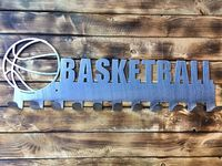 Handcrafted in USA! Support American Small Businesses. Basketball Steel Medal Display Hanger $39.99