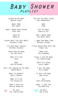 Baby Shower Playlist--- all of this minus the biebs!