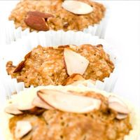 Healthy breakfast or snack, great for on-the-go! Almond Apple Spice Muffins via Shape #fall #lowcarb #proteinpowder