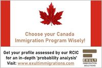 Consult our qualified and ICCRC certified immigration consultant to check your eligibility for PR in Canada through express entry or via other immigration programs. Exult Immigration Solutions can help you avoid making errors and losing your chances of ob...