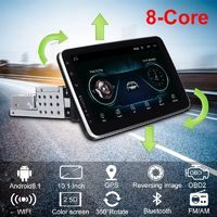 10.1 Inch 1DIN for Android 8.1 Car Stereo 360 Degree Rotation Multimedia Player 8 Core 1+16G 2.5D HD Screen GPS Navigation WIFI FM AM Radio