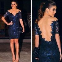 2014 Women Bandage Bodycon Lace Evening Sexy Party Cocktail Summer Mini Dress