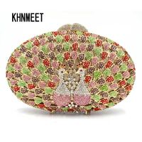 Designer Peacock Crystal Party Evening Bag $188.67
