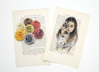 Print art on book pages