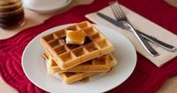 You can make waffles from scratch, from waffle mix or from pancake mix. It's unnecessary to purchase both waffle and pancake mix, when pancake mix makes delicio