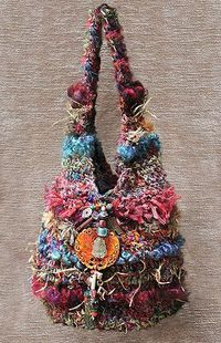 bird nests, sari silk and crocheted purses.