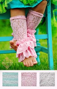 Lace Legwarmers with lots of ruffles by ISADORAKIDS on Etsy, $18.00