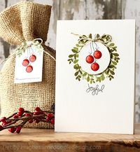 Simon Says Stamp Christmas Wreath card