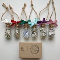 Jar Of Book Paper Hearts Christmas Decoration Set - this is quite sweet.