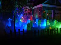 Originally Posted by James B.													I also use CFLs						Great cemetery, I love this!! Love the fence especially!I usuaully use blue and red floods, but don't like how much light they throw out either. So, I didn't use as many last year and ...