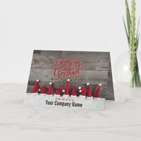 Country Holiday Wishes Corporate Folded cards