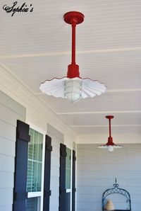 porch ceiling, porches and lights.