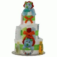 Baby Lion Diaper Cake 3 Tiers