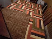 Rail Fence Quilt--Straight Line Quilting