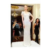 Marchesa - Spring 2017 - Cap Sleeve Sheath with Embroidery Details - Stunning Cheap Wedding Dresses|Prom Dresses On sale|Various Bridal Dresses