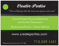 Online Party Planner Services! Subscription based monthly Party Ideas and Creative Decor! Weddings, Birthdays, Showers, Anniversaries, Work Parties, Holiday Events, Any Party or Any Reason! Check us out..www.createparties.com