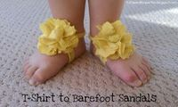 T-Shirt Baby Sandals Tutorial