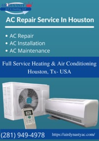 Heating & air conditioning repair services, If it's broken or not working to full capacity, we can fix it. Air Dynasty provides the best AC repair service in Houston. Our AC experts offer the best air conditioning services available in the area....