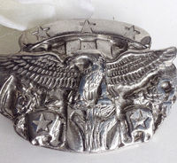 Americana Belt Buckle, Eagle Belt Buckle, Silver Belt Buckle, Belt Buckle; Men's Belt Buckle, Stars and Stripes Belt Buckle, Belt Buckle, $59.00