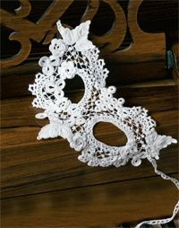 A Burano Clones Lace Mask by Maire Treanor. I have the pattern and this is on my list of things to make!