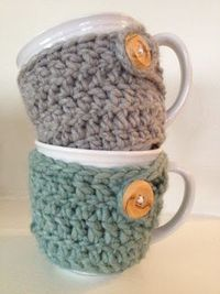 Crochet Mug Cozies (right side up this time)