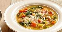 Healthy Soup Recipes : Food Network Minestone with parmigiano reggiano swiss chard Bobby Flay