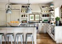 natural + industrial white kitchen