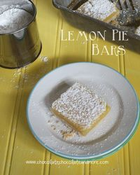 Lemon Pie Bars-all the taste of a Lemon Pie with the convenience of a handy bar I have a love affair with lemon. I love anything having to do with lemon. Lemon