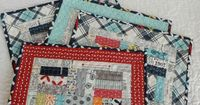 A Quilting Life - a quilt blog: Charm Pack Patchwork Placemats Tutorial