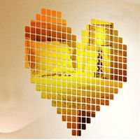wall sticker 3d mirror wall stickers Mosaic Room Home Decor Mural Decal adesivo de parede $3.52