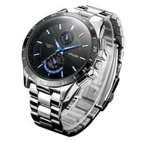 LONGBO 8833 Stainless Steel Band Fashion Business Style Luminous Display Men Quartz Watch