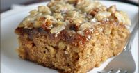 "Oatmeal Cake �€"" a moist oatmeal cake topped with a coconut and pecan streusel."