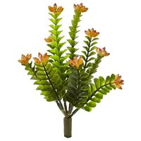 Artificial Plant -9 Inch Flowering Orange Sedum Plant-Set of 6 https://wroughtironhaven.com