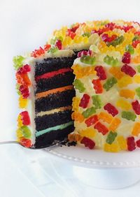 Cake Decorating inspiration. Gummy bears!