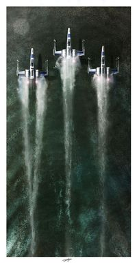 X-Wings on Water by Andy Fairhurst