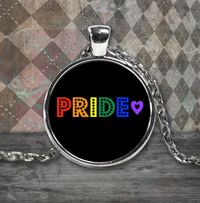 Pride Rainbow Necklace - Sterling Silver Plated - Pride Month Gift - Lgbt - Lgbtq - Lgbtqia Jewelry $29.95