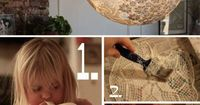 DIY Projects / More Design Please - MoreDesignPlease - DIY Doily?Lamp on Wanelo