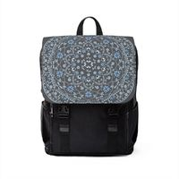Blue Mandala in Gray Casual Shoulder Backpack $62.15