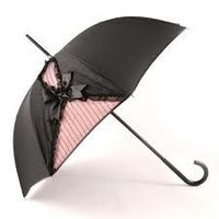 Fashion Raingear - Guy de Jean for Jean Paul Gaultier, is having a ball designing extravagant umbrellas to represent various sexy women's outfits. From the sexy