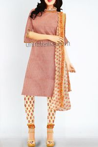 online shopping for mangalagiri cotton salwar kameez are available at www.unnatisilks.com
